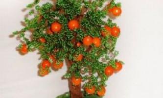 Апельсинове дерево з бісеру