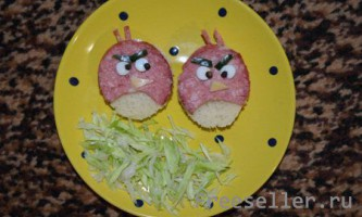 Бутерброд angry birds