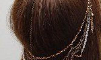 Ланцюг для волосся зі старих браслетів і ланцюжків
