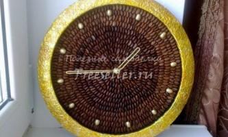 Годинники, декоровані зернами кави