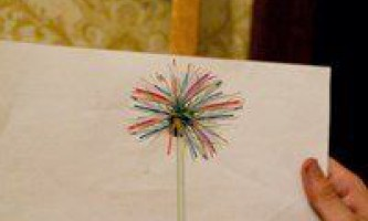 Квітка з трубочок соломинок своїми руками