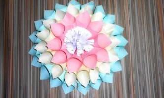 Квіти з паперу. Великі квіти своїми руками