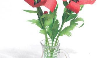 Квіти з паперу своїми руками. Маки
