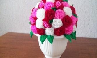 Квіти з серветок
