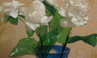 Квіти у вазу з пластикових пляшок