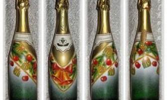 Декупаж пляшок. Оригінальні новорічні подарунки