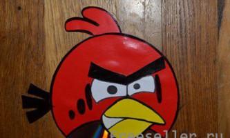 Робимо angry birds з картону і диска