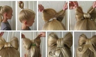 Робимо красивий бант зі свого волосся голови