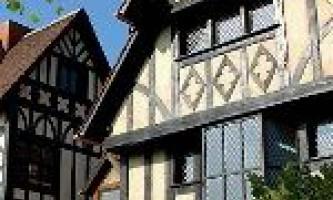 Будинки з бруса в стилі фахверк