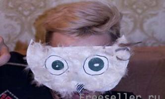 Фактурна маска-сова своїми руками