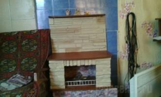 Фальш камін зі старої тумби для телевізора