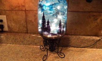 Ліхтарик з зображенням нічного різдвяного неба