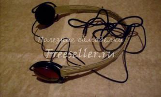 Гнучка перемичка для навушників своїми руками