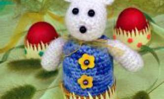 Грілка кролик на яйце гачком з фото