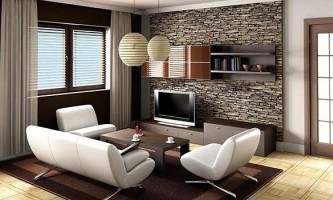 Штучний камінь в інтер`єрі квартири