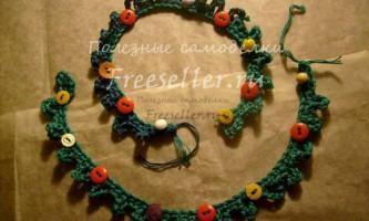 Ідеї новорічного декору - в`язана ялинкова гірлянда