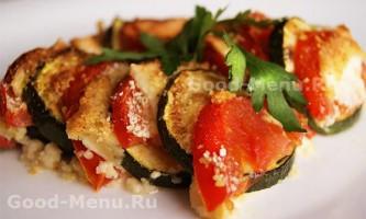 Кабачки в духовці з помідорами і сиром