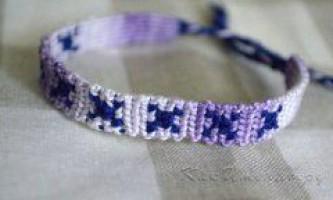 Як плести фенечки прямим плетінням?