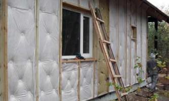 Як правильно утеплити стіни будинку з бруса
