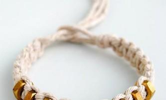 Як зробити браслет з ниток і гайок