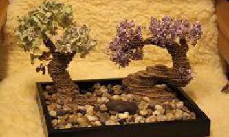 Як зробити дерево-бонсай з картону