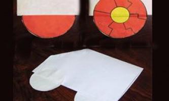 Як зробити колеса з паперу
