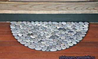 Як зробити килимок з каменів