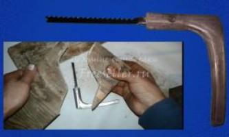 Як зробити міні лобзик з дверної ручки