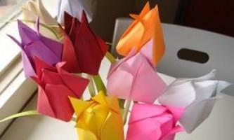 Як зробити тюльпан з паперу своїми руками, інструкція з фото