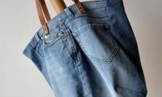 Як зшити сумку зі старих джинсів