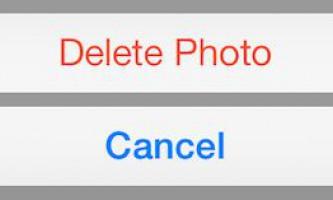 Як видалити фото з айфона