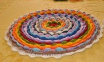 Як в`язати килимки гачком
