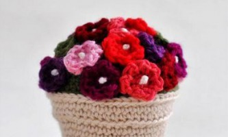 Як в`язати гачком квіти
