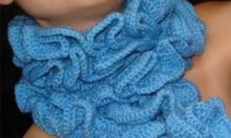 Як в`язати гачком шарф