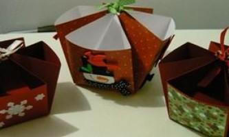 Коробочка для цукерок з паперу своїми руками