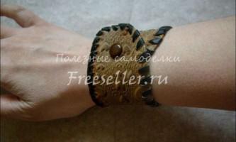 Шкіряний браслет своїми руками
