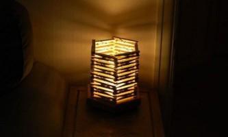 Лампа-нічник з прищіпок
