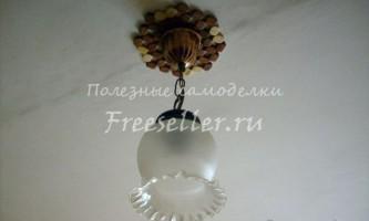 Мінімалістичний світильник зі старої люстри