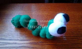 М`яка іграшка - гусениця - своїми руками