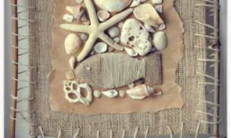 Морські фантазії. Панно з морських черепашок
