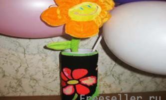 Ошатний чохол для вази з тканини