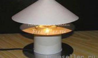 Настільна лампа з cd диска з живленням від usb