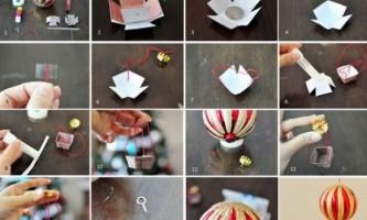 Новорічне прикраса «повітряна куля»