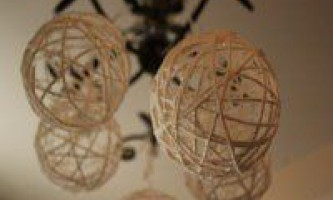 Новорічні кульки з пряжі
