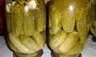Огірки мариновані стерилізовані