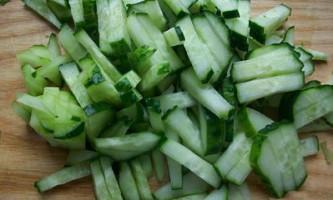 Огірковий салат. Рецепт