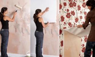 Обклеювання стін шпалерами