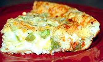 Омлет з сиром і зеленою цибулею в мультиварці