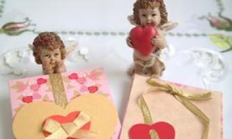Листівки на день святого валентина своїми руками для дітей. Майстер-клас з покроковими фото