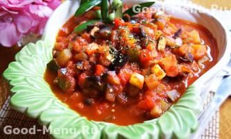 Овочеве рагу з кабачками і баклажанами